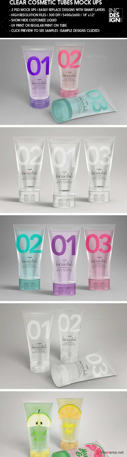 Clear Cosmetic Tube MockUps 20753300