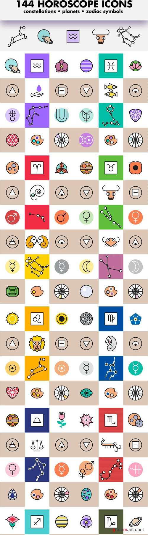 Horoscope Astrology Sign Icons 1166884