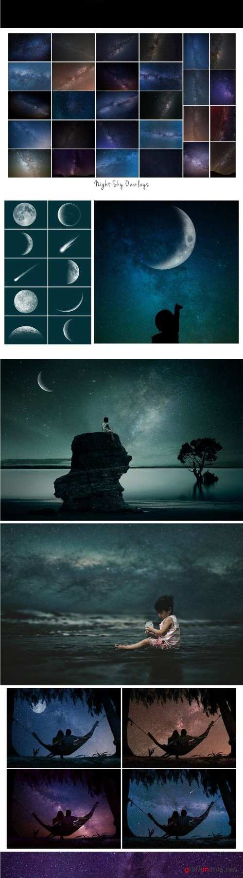 Night Sky and Moon Overlays - 2511423