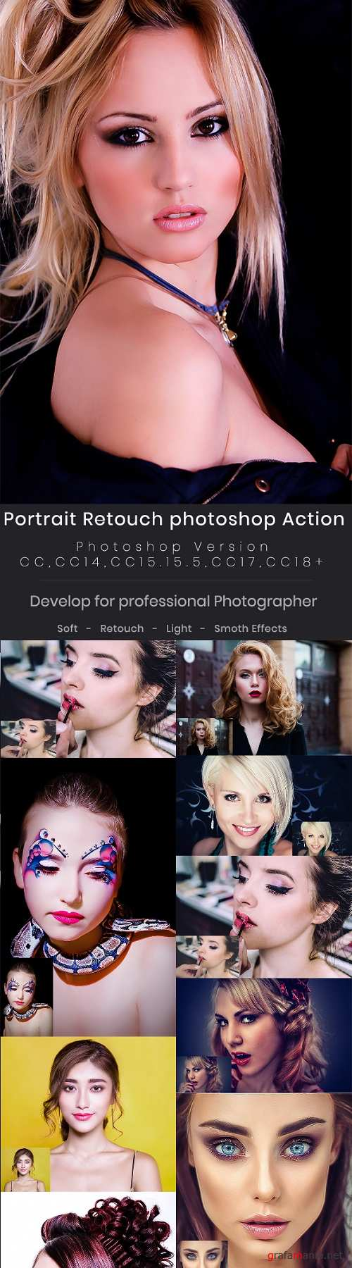 10 Portrait Retouch Photoshop Action 22126762