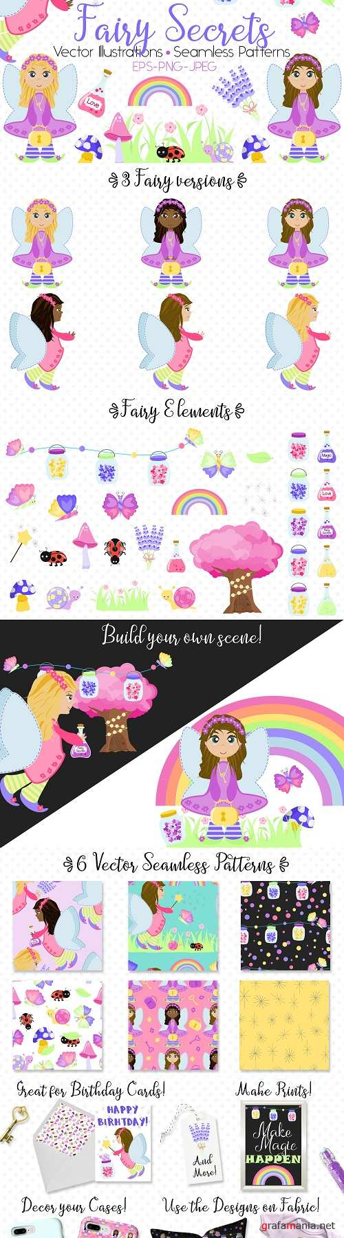 Fairy Secrets - Graphics and Patterns