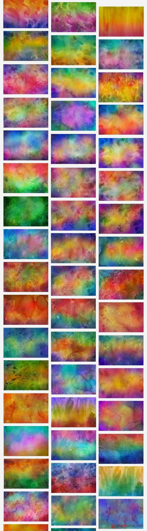 50 Colorful Watercolor Backgrounds
