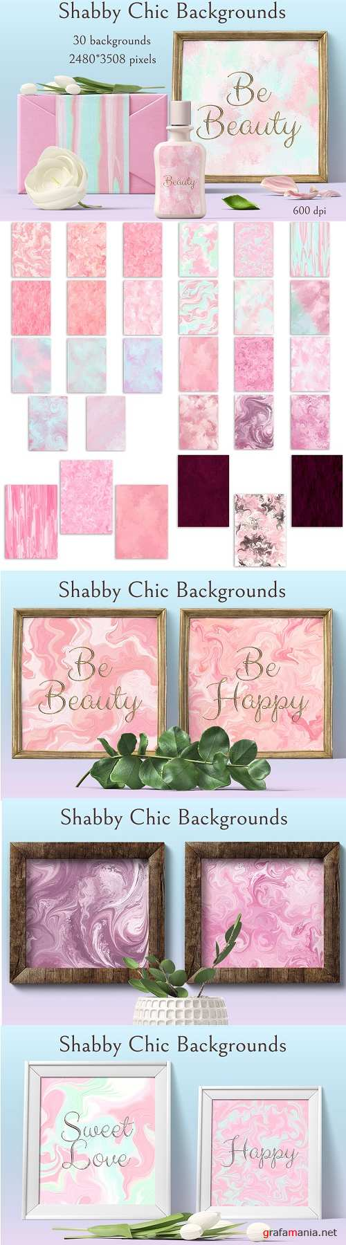 DesignBundles Shabby Chic Backrounds 56599