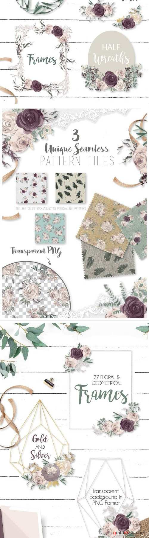 Delicately Modern Watercolor Florals - 2368584