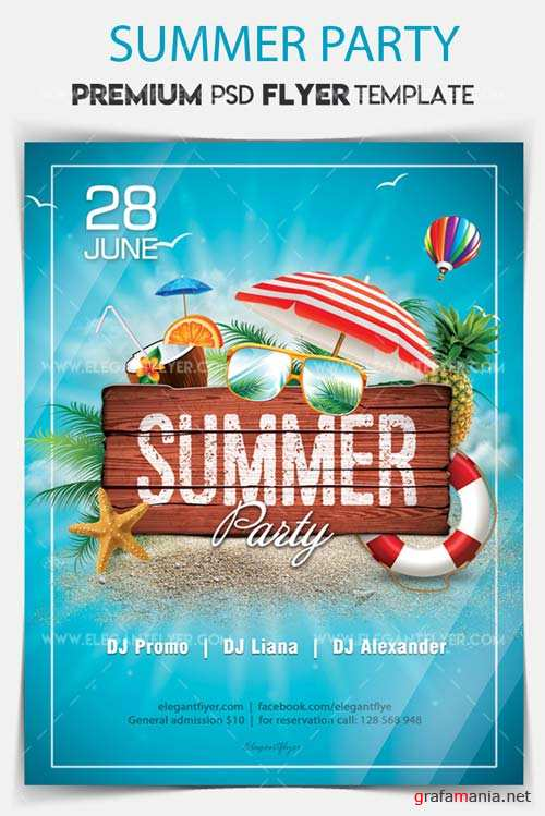 Summer Party V15 2018 Flyer PSD Template