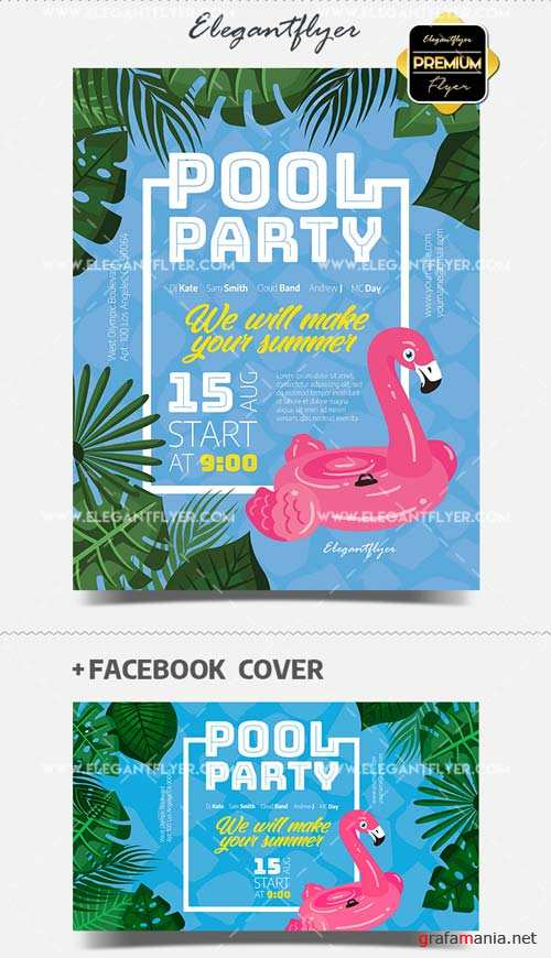 Pool Party V18 2018 Flyer PSD Template