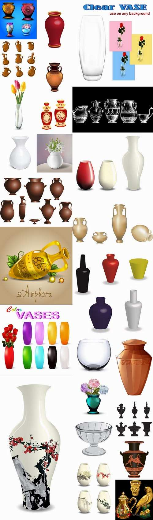 Amphora of vase vessel capacity 25 EPS
