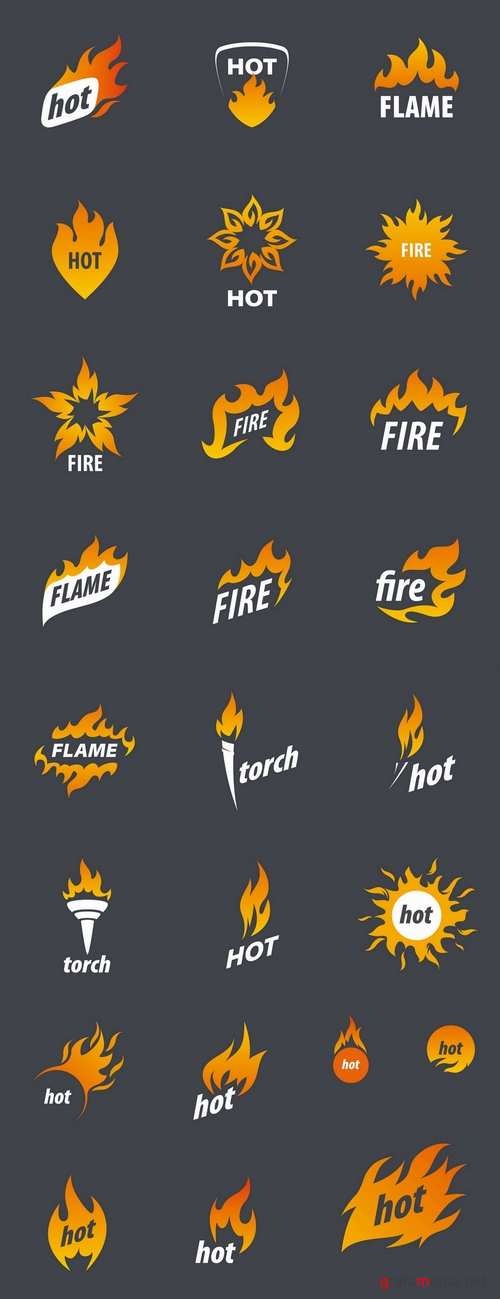 Fire picture vector logo illustration of the business campaign 44-25 Eps
