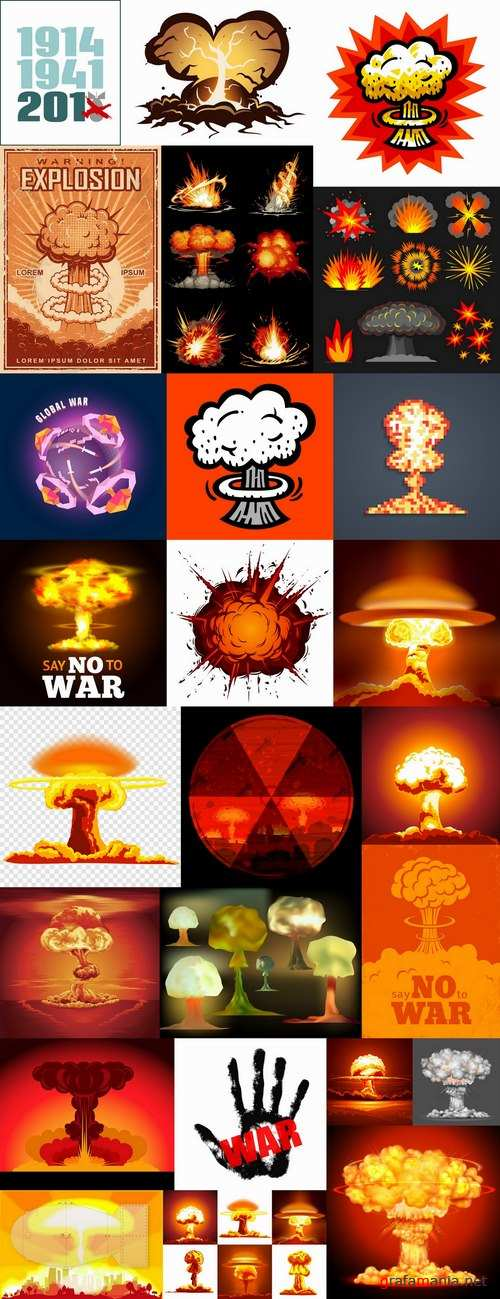 Nuclear explosion radiation flash 25 EPS