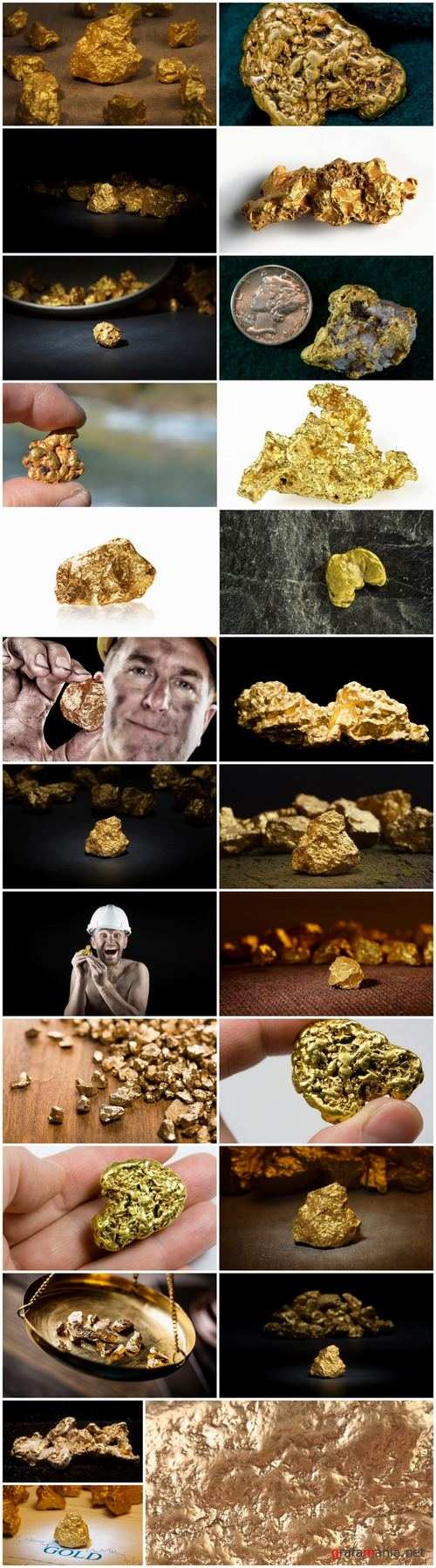 Gold nugget gemstone metal 25 HQ Jpeg