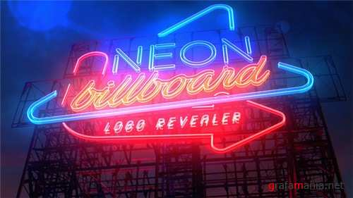 Neon Billboard Logo Revealer - After Effects Project (Videohive)