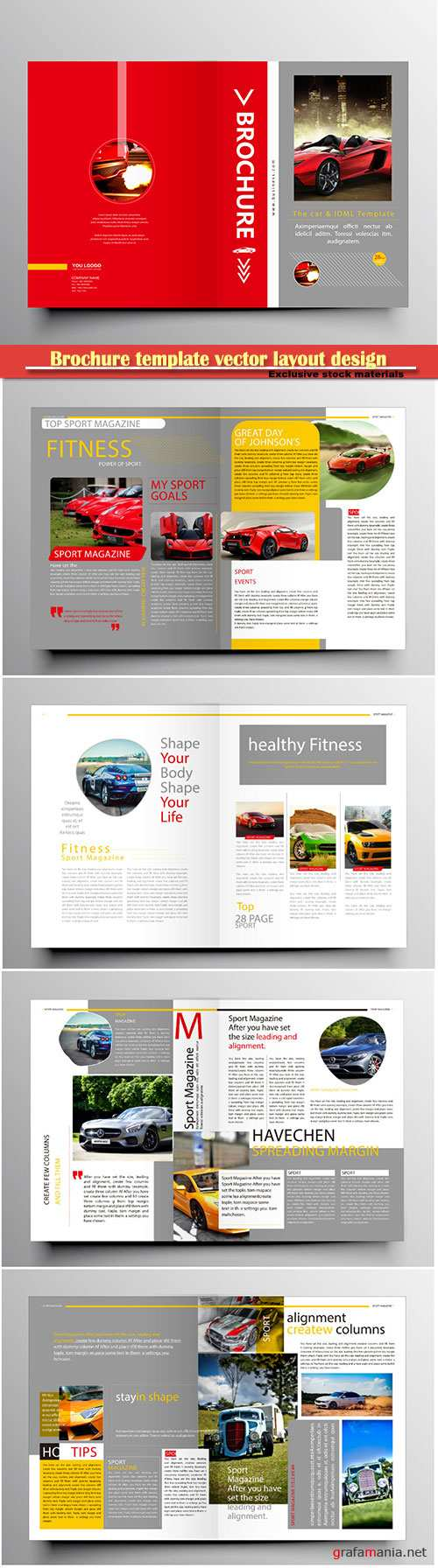 Brochure template vector layout design, corporate business annual report, magazine, flyer mockup # 186