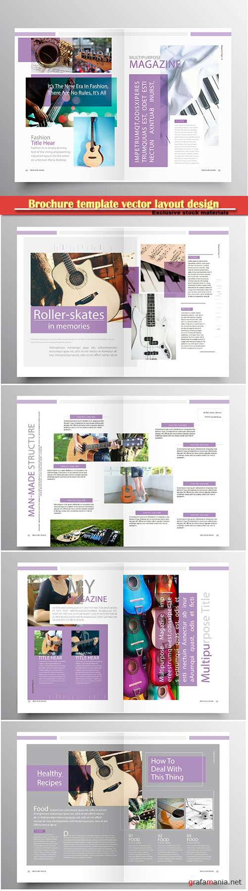 Brochure template vector layout design, corporate business annual report, magazine, flyer mockup # 182