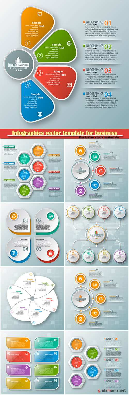 Infographics vector template for business presentations or information banner # 74