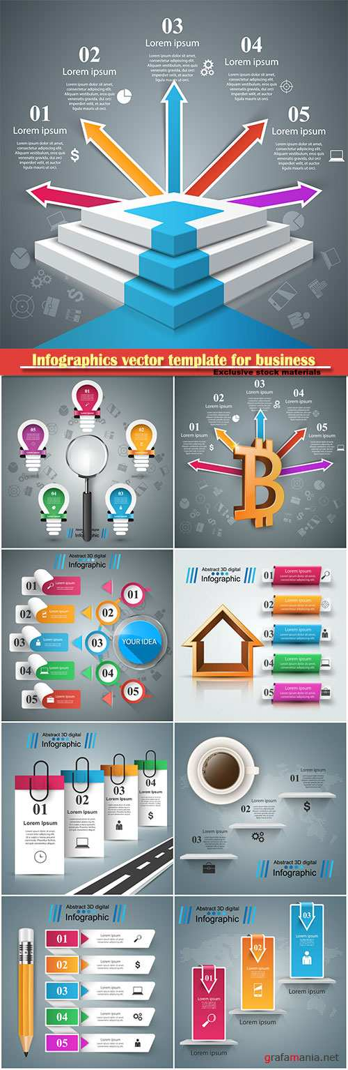 Infographics vector template for business presentations or information banner # 78