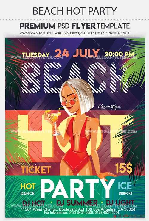 Beach Hot Party V31 2018 Flyer PSD Template