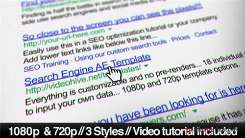 Internet Search Engine Screen Close-Up - After Effects Project (Videohive)