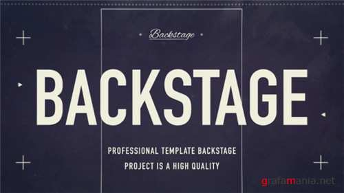 Backstage 18922549 - After Effects Project (Videohive)
