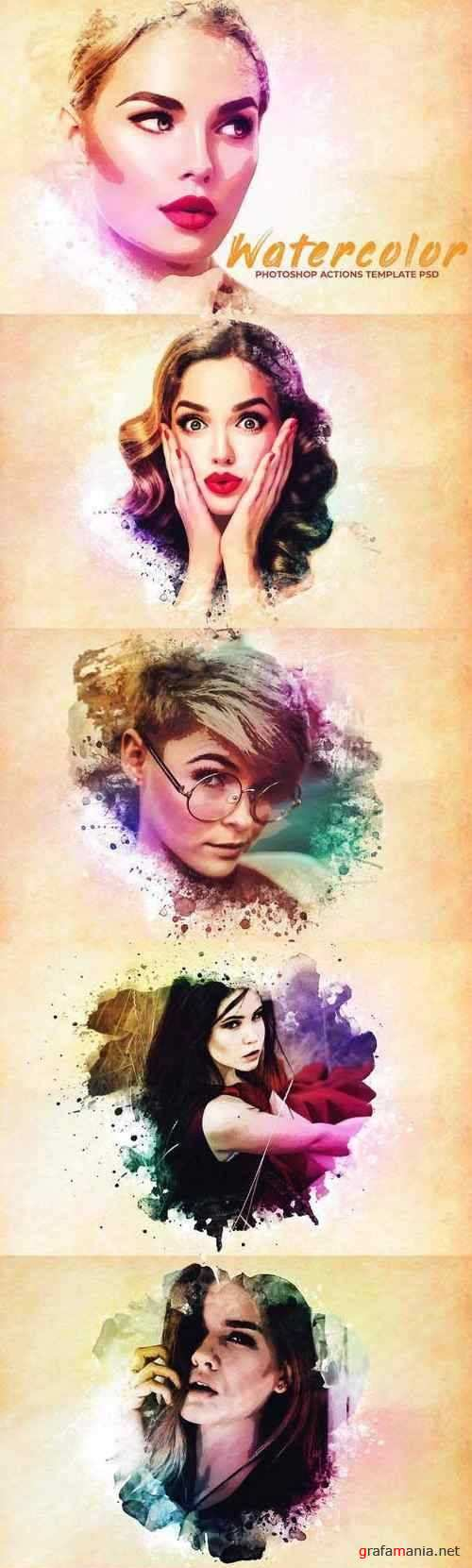 Watercolor Photoshop PSD Template 2735911