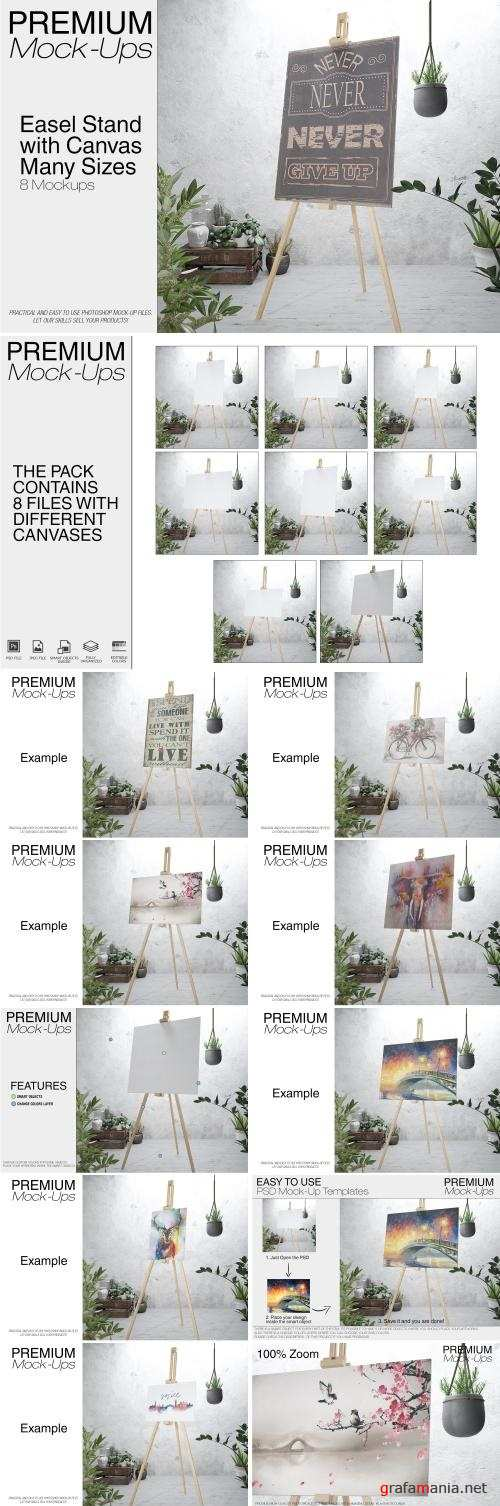 Easel Stand with Canvas - Many Sizes - 2574487