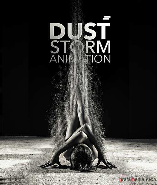 GraphicRiver Dust Storm Animation Photoshop Action