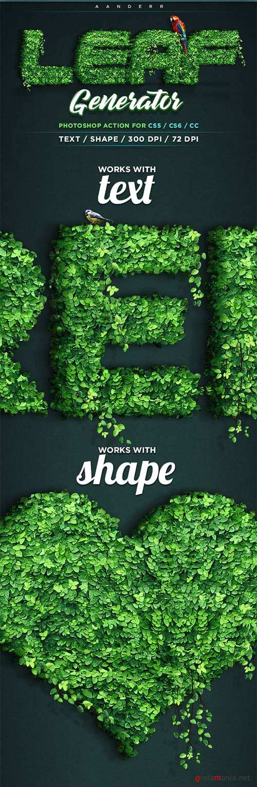 GraphicRiver Leaf Generator Photoshop Action