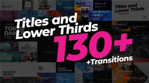 130 Titles Lower Thirds - After Effects Project (Videohive)