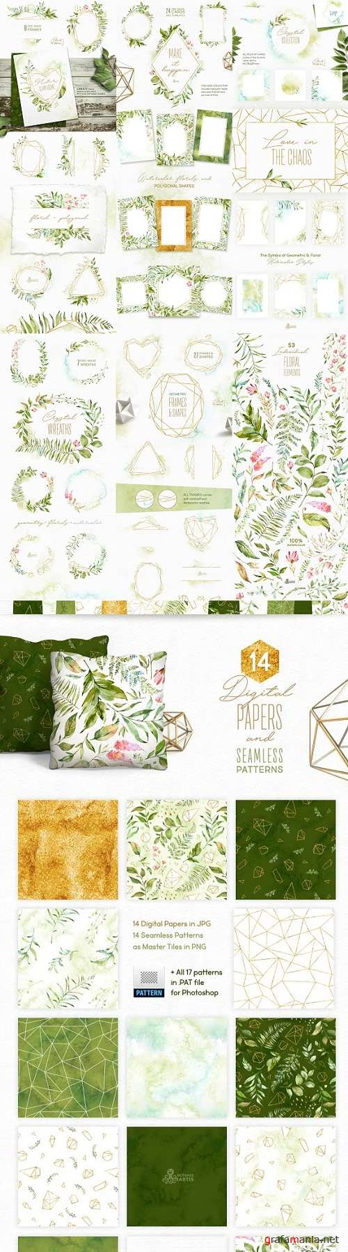 Crystal Floral & Polygonal Bundle 1984341