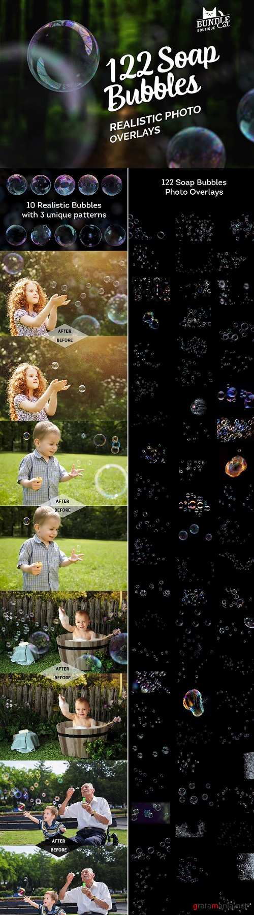 122 Soap Bubbles Photo Overlays - 22175413