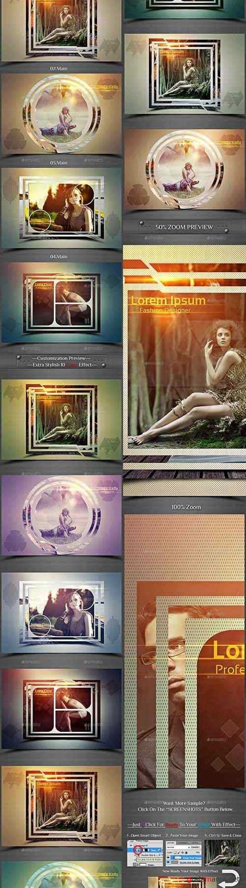 Unique Shape Photo Frame Template - 22079345