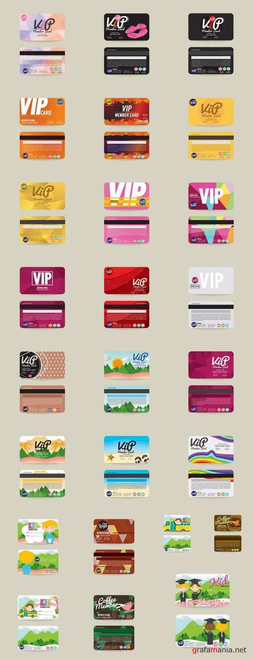 Business card membership card club 25 EPS