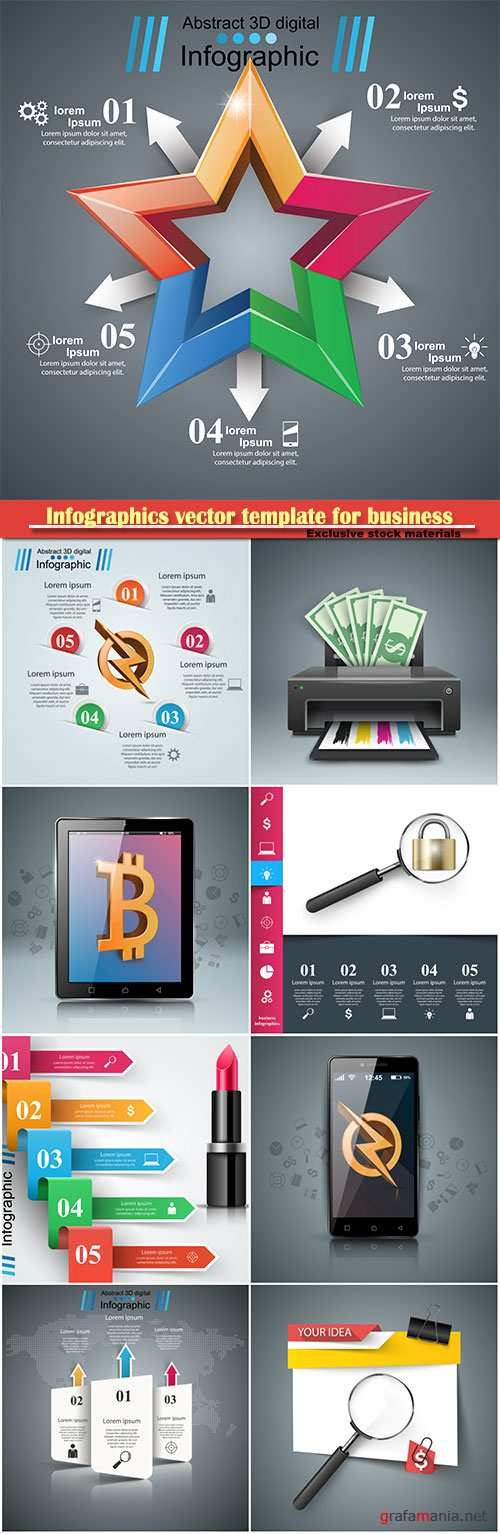 Infographics vector template for business presentations or information banner # 79