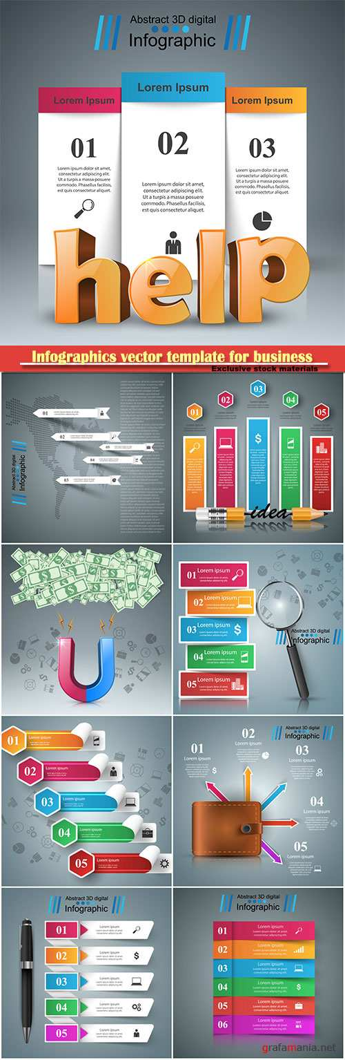Infographics vector template for business presentations or information banner # 80