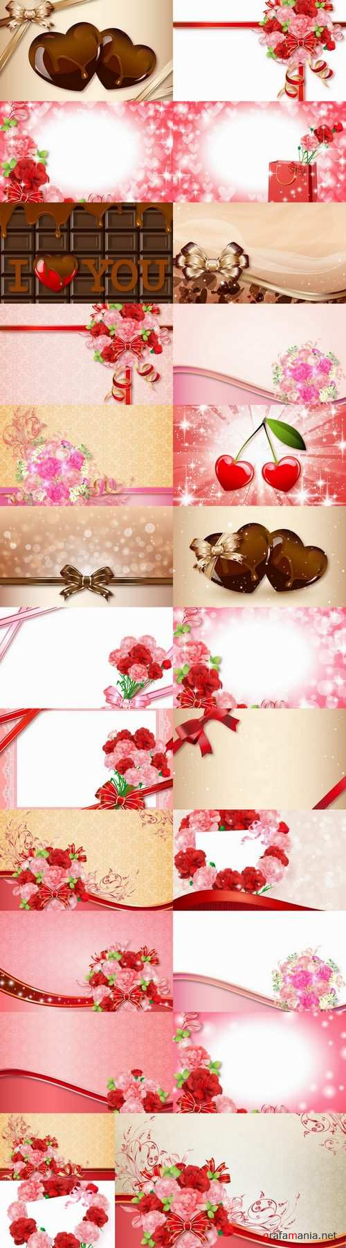 Greeting card invitation card cover example flyer banner gift bow 25 EPS
