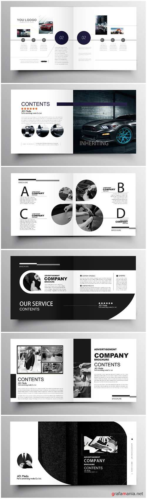 Brochure template vector layout design, corporate business annual report, magazine, flyer mockup # 191