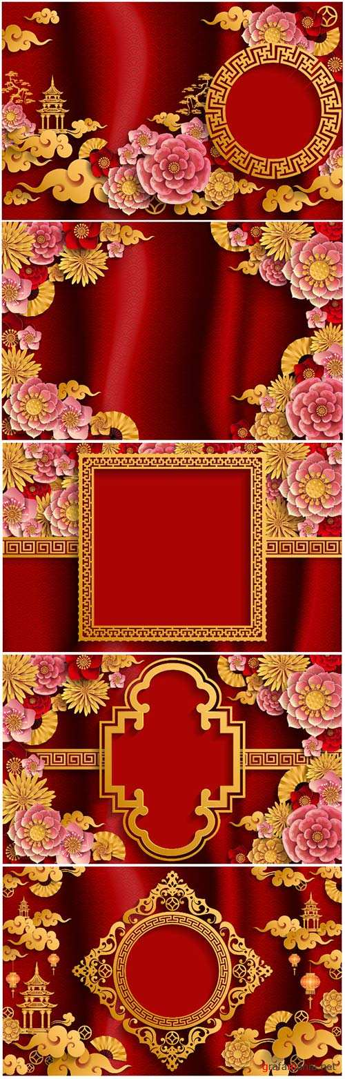 Chinese vector background, pig year