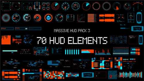 Massive HUD Pack 3 - After Effects Project (Videohive)