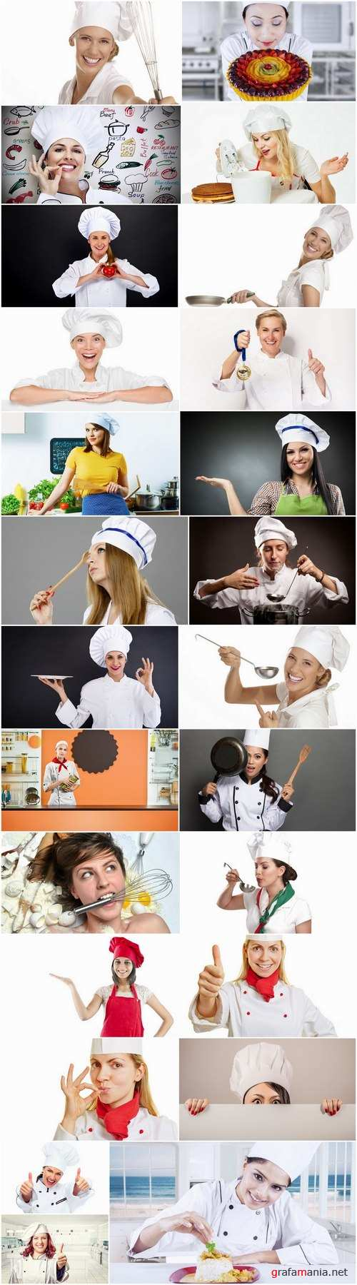 Girl woman chef cooking food in kitchen 25 HQ Jpeg