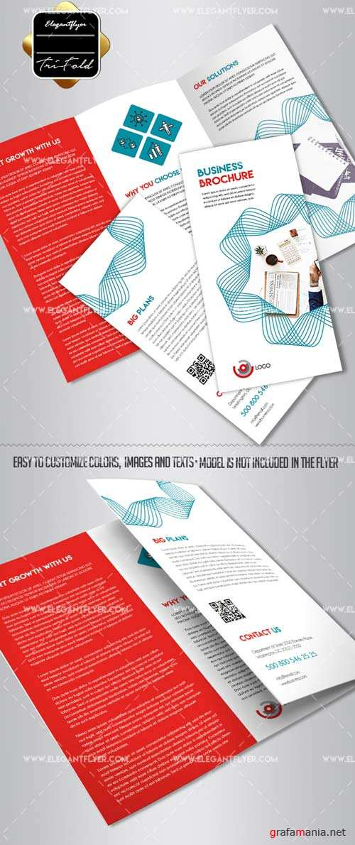 Business V41 2018 Tri-Fold Brochure PSD Template