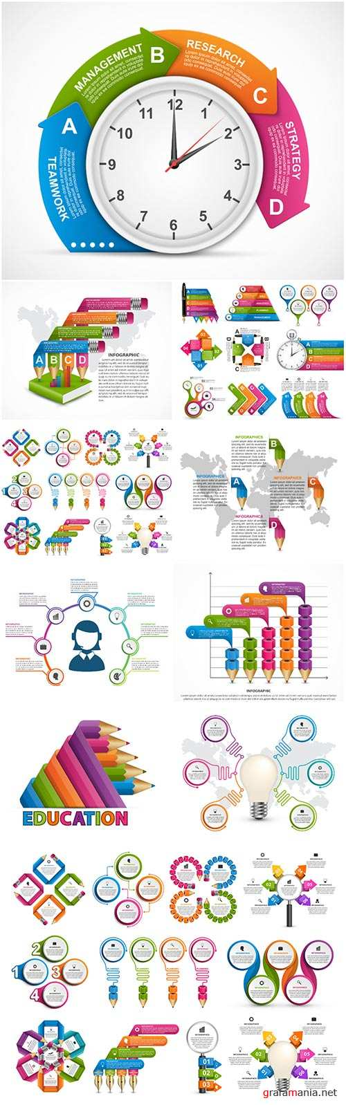 Infographics vector template for business presentations or information banner # 93