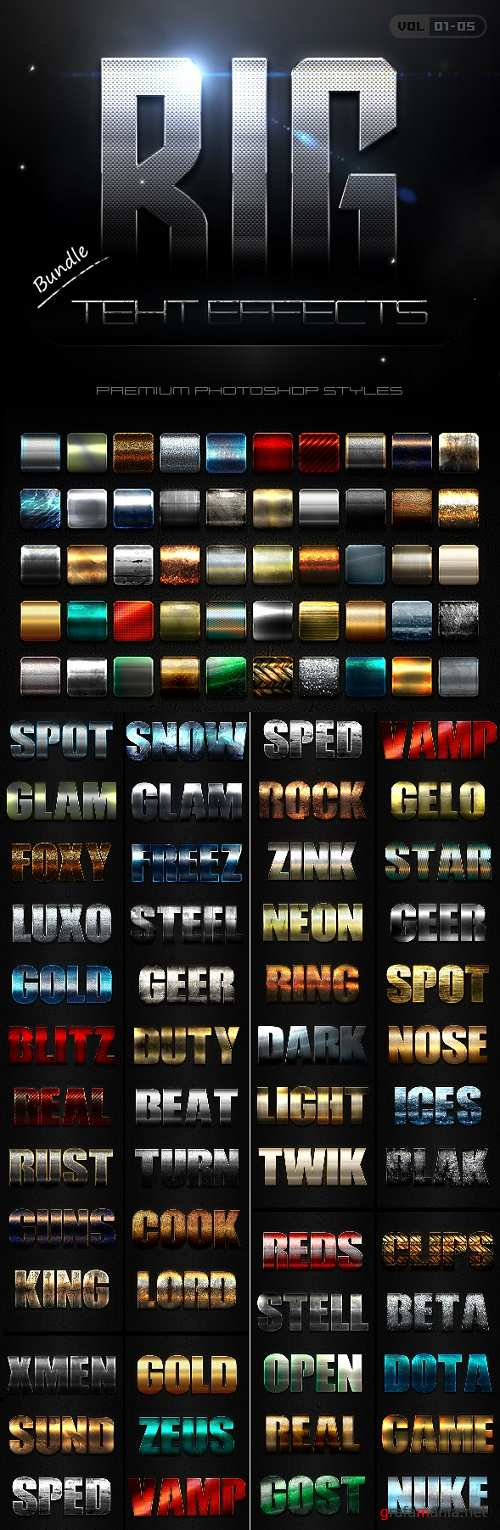 50 Bold Text Effects Bundle - 21216157