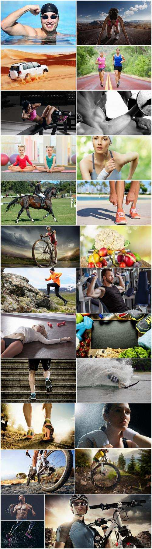 Sports different kinds of fitness leisure useful life training gym hall street 25 HQ Jpeg