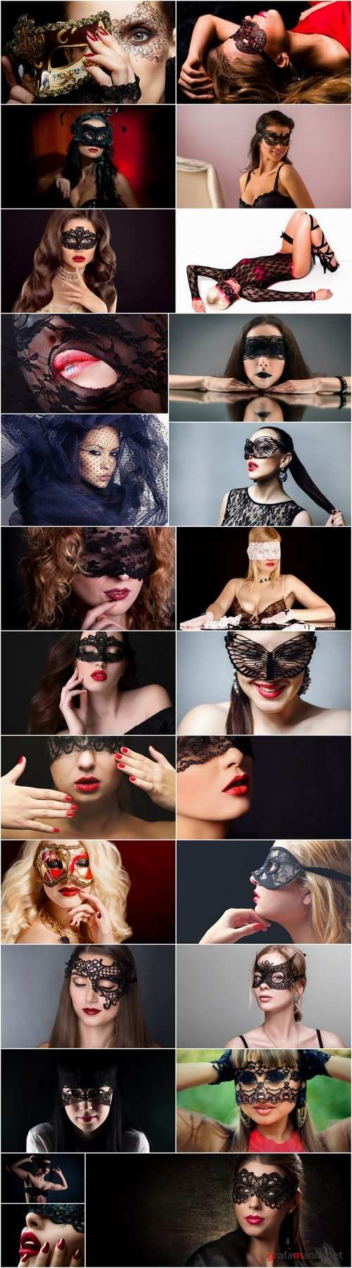 Woman girl in a veil mask mysterious face makeup lips 25 HQ Jpeg