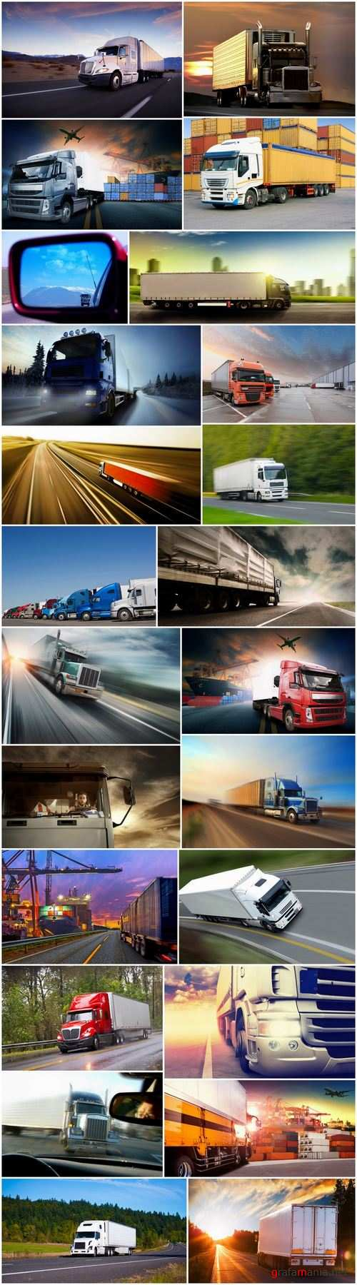 Truck road freight delivery container motor motor wheel road train 24 HQ Jpeg