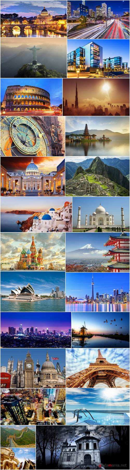 Architecture of different countries skyscraper historical building travel sights 25 HQ Jpeg