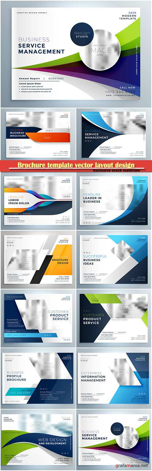 Brochure template vector layout design, corporate business annual report, magazine, flyer mockup # 215