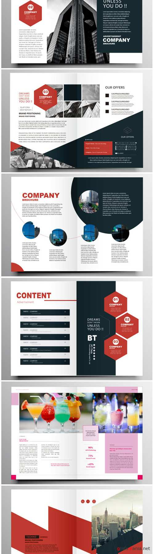 Brochure template vector layout design, corporate business annual report, magazine, flyer mockup # 192