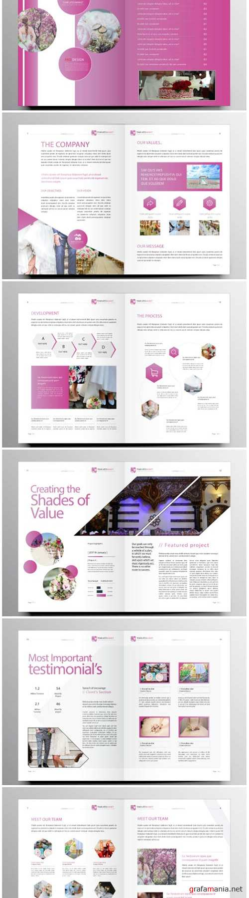 Brochure template vector layout design, corporate business annual report, magazine, flyer mockup # 202