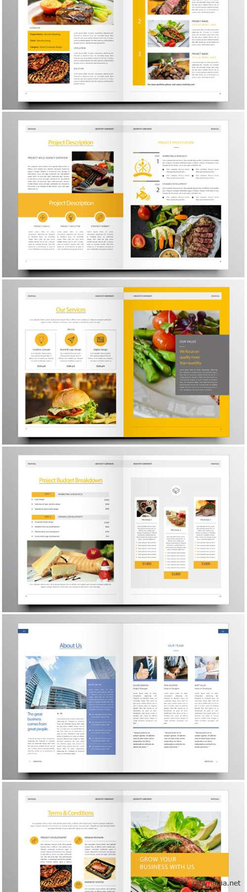 Brochure template vector layout design, corporate business annual report, magazine, flyer mockup # 195