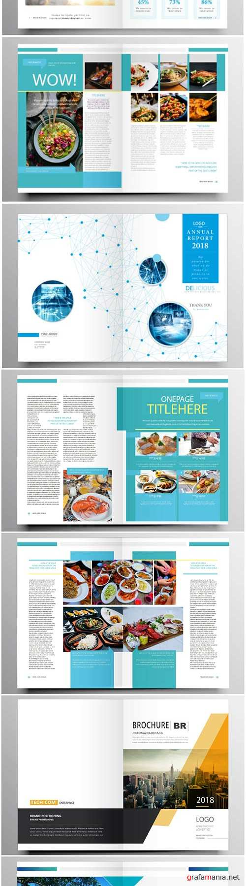 Brochure template vector layout design, corporate business annual report, magazine, flyer mockup # 201